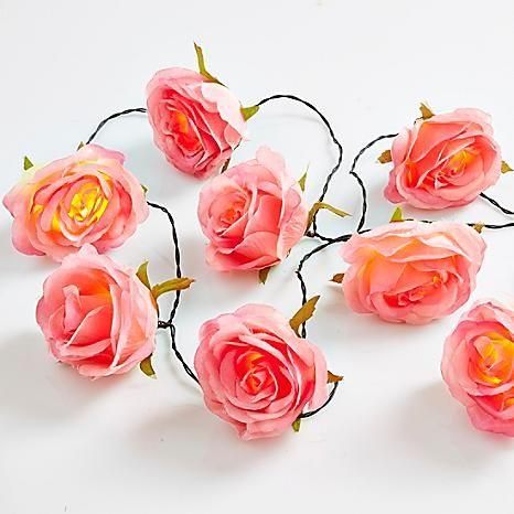 Rose String Lights #kaleidoscope #loveflorals