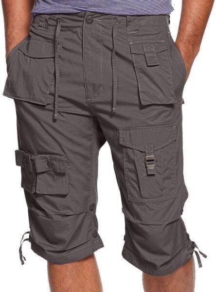 Sean John Shorts NWT 38T Steeple GREY Cargo Shorts 100% Cotton ...
