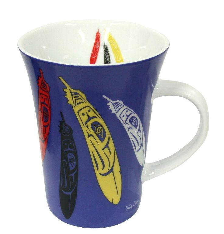 'Eagle Feather' Porcelain Mug