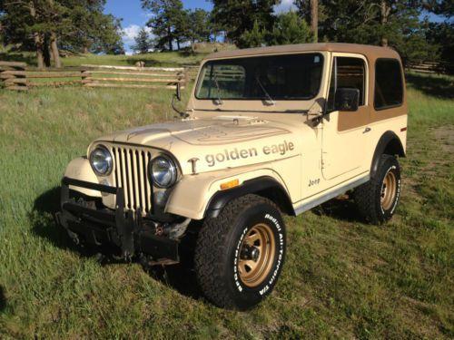 1979 Jeep CJ7 Golden Eagle No Reserve Original Paint 1 Owner 133k 6cyl, ...