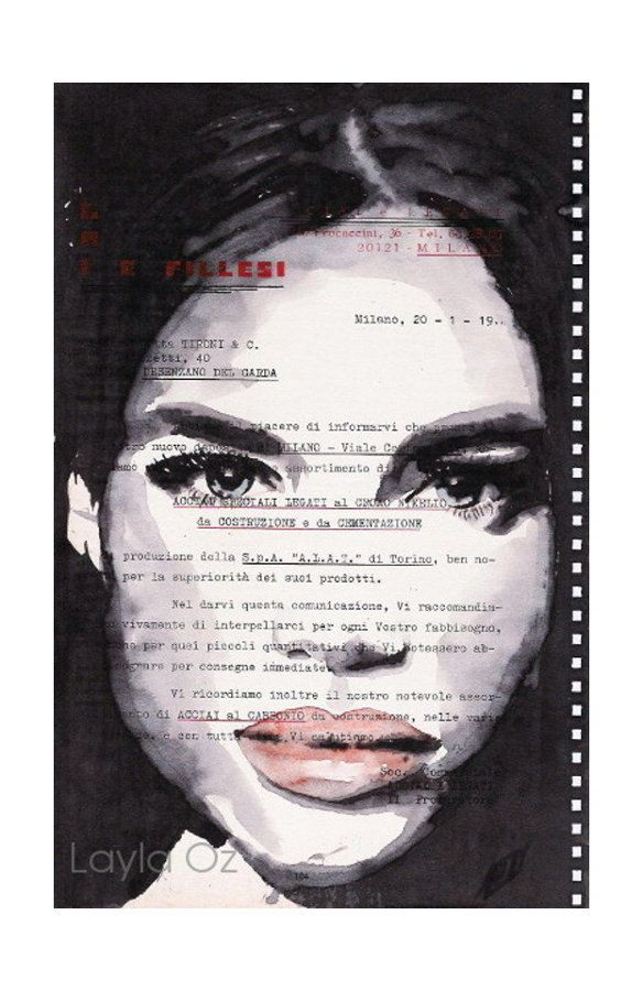 Veronica - Fine Art print, pop art, affordable original art by LaylaOzArt on Etsy