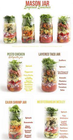 """Borboletas na Carteira » Arquivos » Mason Jar + 4 receitas para fazer salada no """"vidrinho"""""""