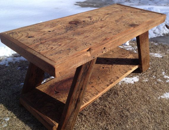 Barnwood Coffee Table by little1created on Etsy