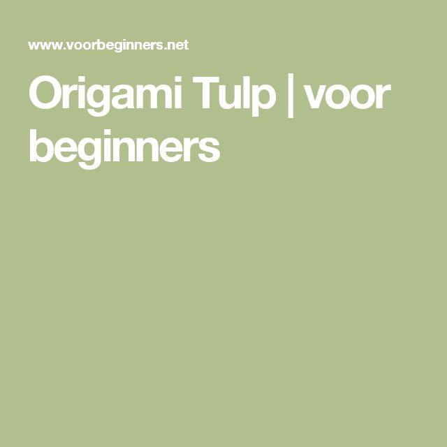 Origami Tulp | voor beginners