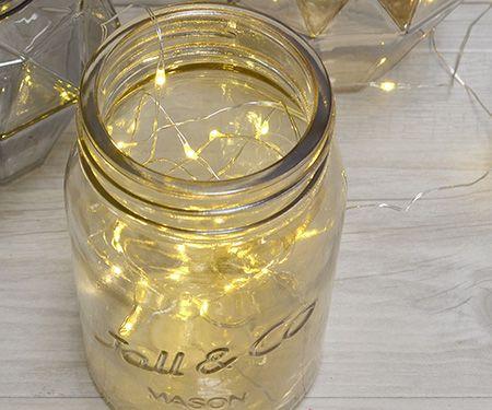 Gold Mason Jar Tealight or Vase