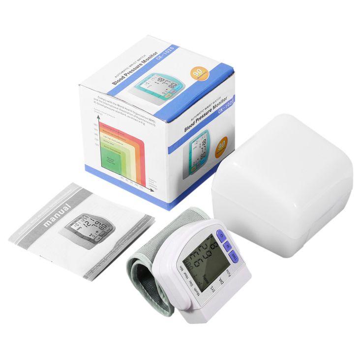 Opieki zdrowotnej Automatyczne Cyfrowe Wrist Cuff Ciśnieniomierz Ramię Licznik Impulsów Sphygmomanometer Heart Beat Meter Wyświetlacz LCD | 32293375198_www