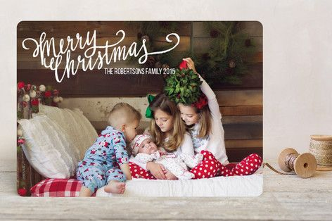 $1.63 Merry Scriptmas Holiday Photo Cards by Rebecca Turner at minted.com