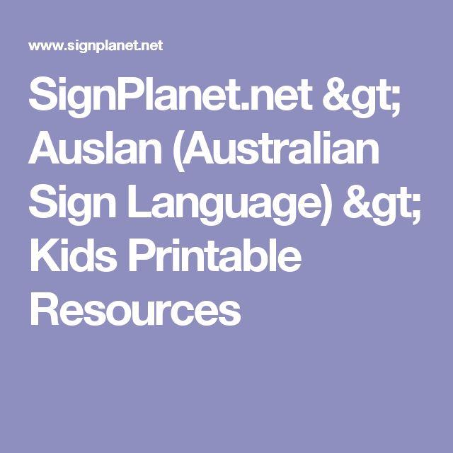 SignPlanetnet gt Auslan Australian Sign Language gt Kids