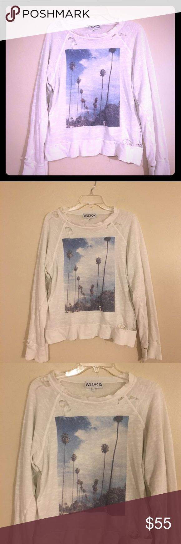 Rare Wildfox Distressed California sweater Jumper Authentic . WF . Rare Style . M. Excellent condition. Smoke free. Wildfox Sweaters