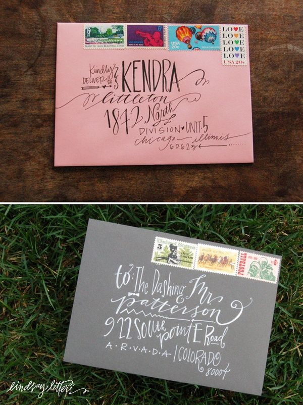 hand write addresses wedding invitations