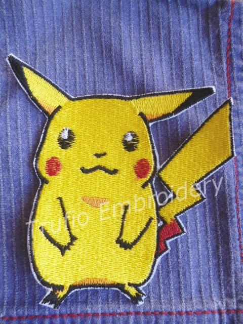Pikachu iron-on patch/badge. by Trufio on Etsy