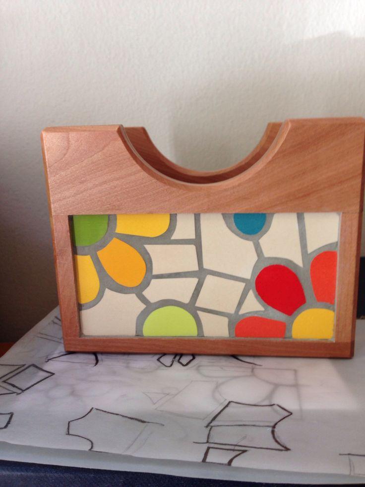 Servilletero: volviendo a trabajar mosaico!
