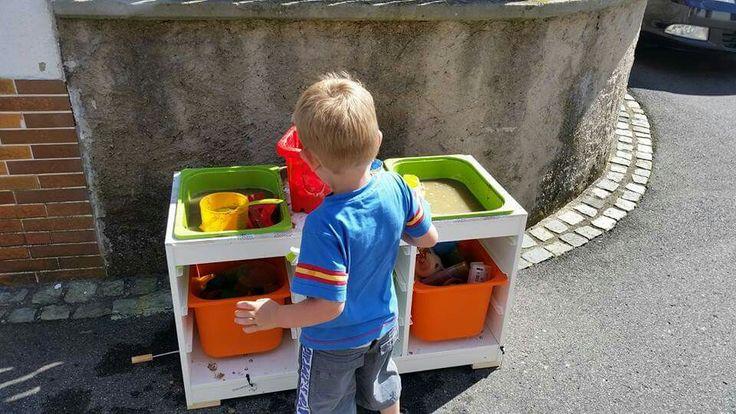MatschKche IKEA Trofast  Kinderzimmer  Pinterest