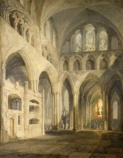 Joseph Mallord William Turner 'Choir of Salisbury Cathedral', exhibited 1797 ©…