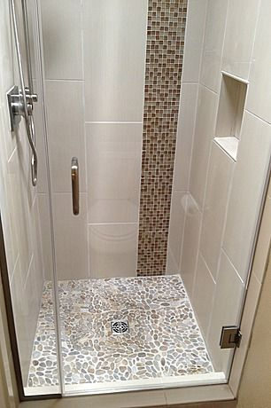 Vertical wall tile - basement bath More
