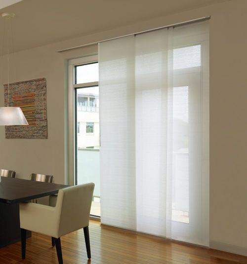 Levolor® Panel Track Blind: Designer Textures Light Filtering shown in Whisper