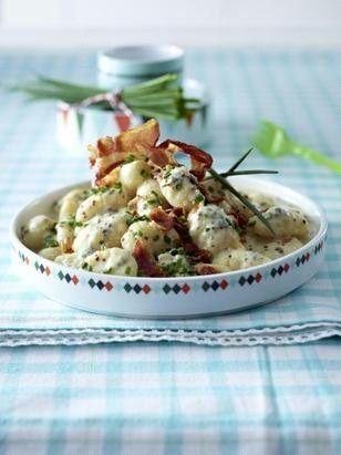 Das Rezept für Gnocchi in Senf-Sahne mit Bacon und Schnittlauch und weitere kostenlose Rezepte auf LECKER.de