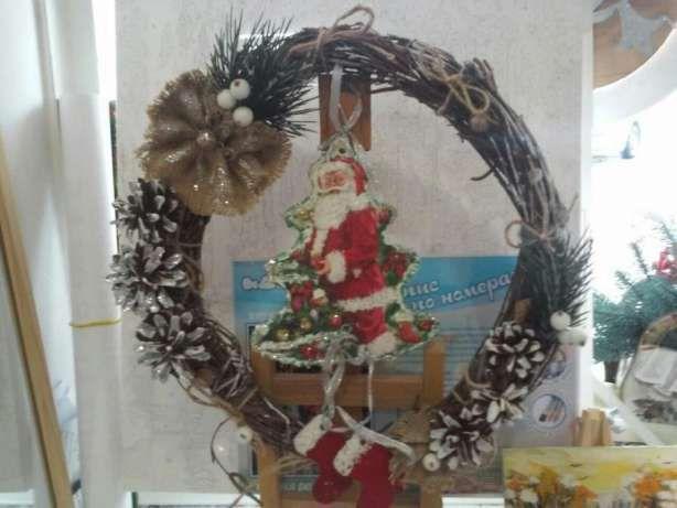 Новогодние игрушки на елку, веночки на дверь!!! Сумы - изображение 1