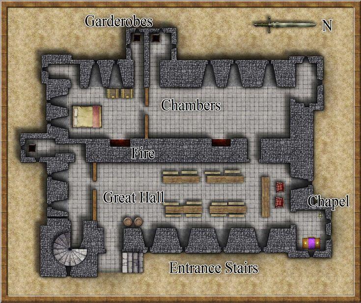Middleham Castle Floor Plan Castle And Keep Battlemaps