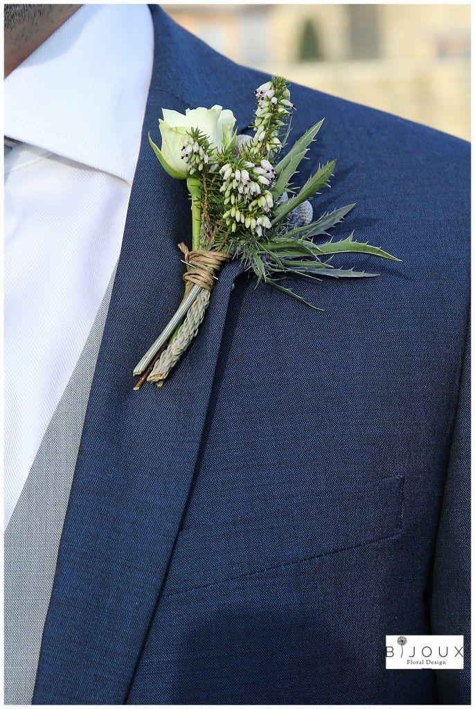 Kingscote Barn Winter Wedding Onhole Roses Thistle Heather Bijouxfldesign Co Uk