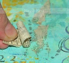 Print Transfer Technique A quick and easy way to transfer some print material to your art journaling pages, that I came across mostly by accident an…