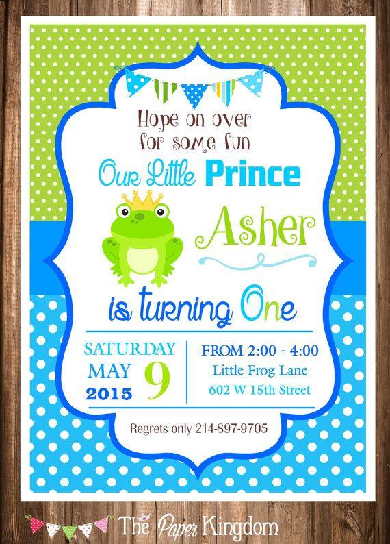 Frog Prince Birthday Invitation Printable by thepaperkingdom