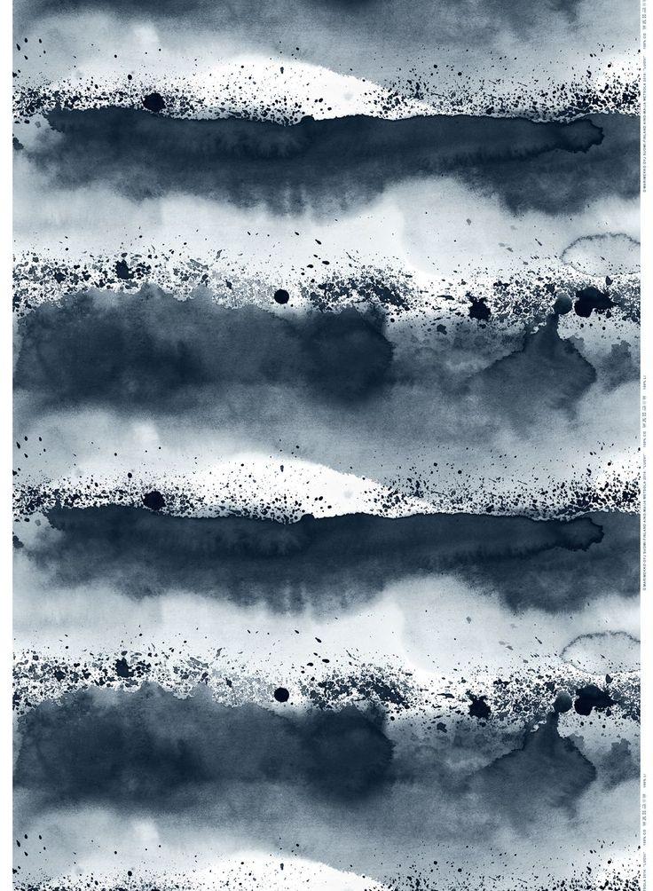 Luovi-pellava (t.harmaa, harmaa) |Kankaat, Pellavat | Marimekko
