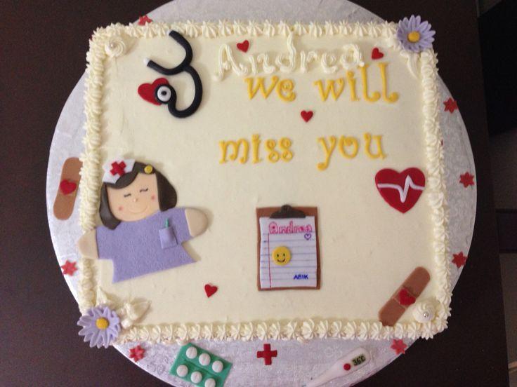 Nurse farewell cake by Yaya's bakery art