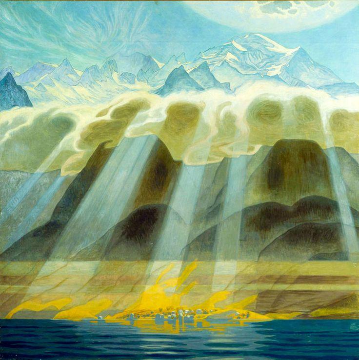 Soleil sur les montagnes du sud - Jens Willumsen, 1902