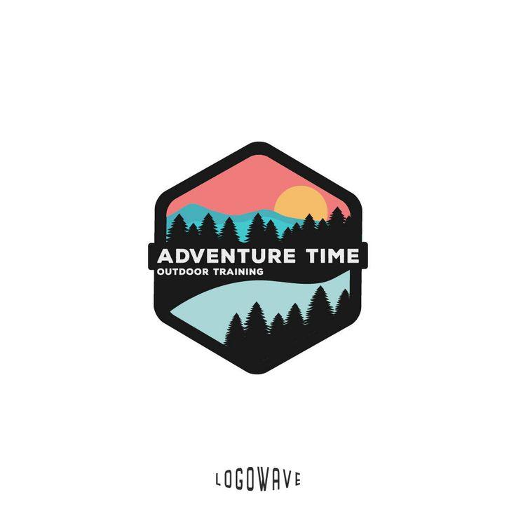 Mountain Logo. Rafting Logo. Badge Logo. Sport Outdoor Logo. Adventure Logo. Tree Logo. Training Logo. Holiday Vacation Logo. Resort Logo by Logowave on Etsy