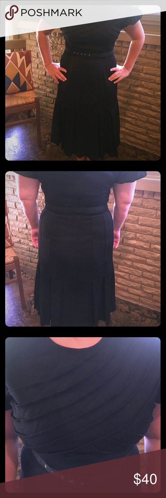 Tracy Reese Dress Black 1940s inspired dress with belt by Tracy Reese.  Beautiful and comfortable! Tracy Reese Dresses