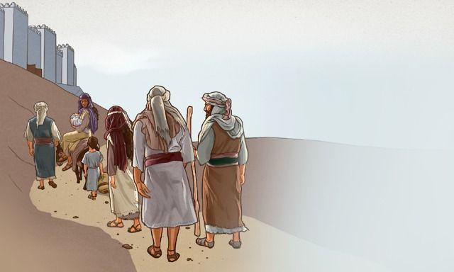 Israelitas subindo para Jerusalém
