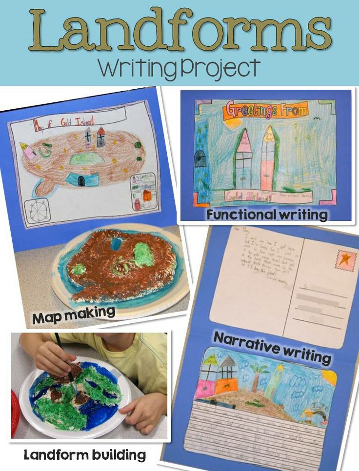 Writing about science: Continents, oceans and landforms