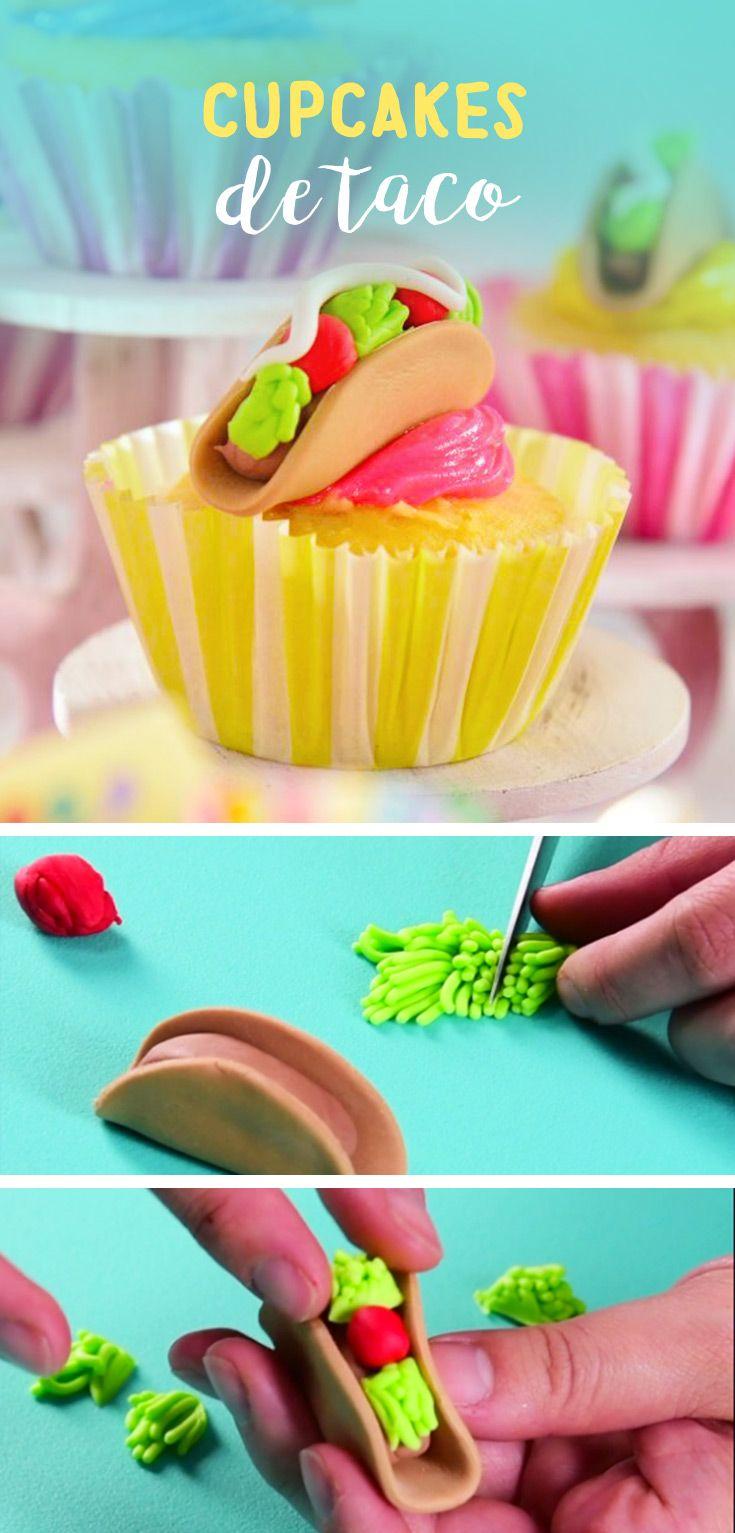 Este tip te enseñará como hacer unos taquitos de fondant para decorar tus cupcakes, serán la sensación en tu fiesta mexicana.