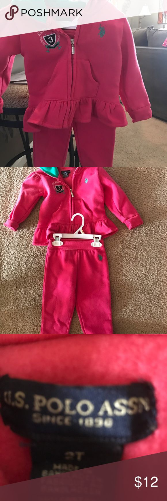 US Polo Association sweatsuit. 2T US Polo association sweatsuit.  Excellent condition. Comes from a smoke free home. US Polo association  Matching Sets