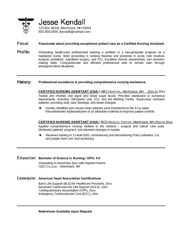 Cna Resume No Experience : resume, experience, Professional, Resume, Template