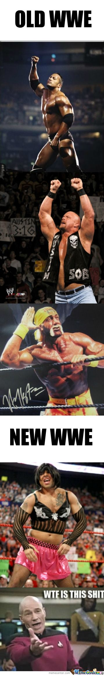 I miss the attitude era ;[.  Stone cold was the best!