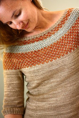 Ravelry: Yukiya Pullover pattern by Julia Trice - How beautiful, and I love the color choices. #knitindie