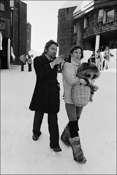 Jane Birkin Serge Gainsbourg in Avoriaz
