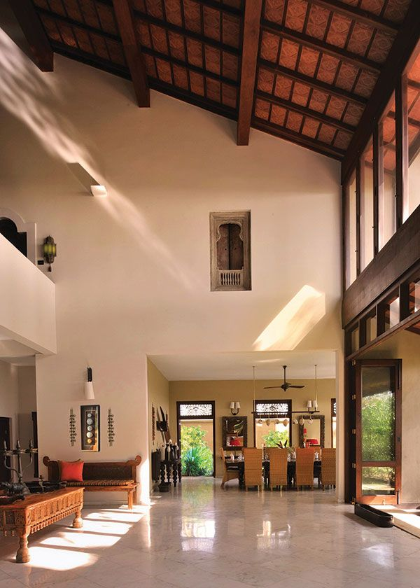 Decorating Interiors With High Ceilings Implies A High