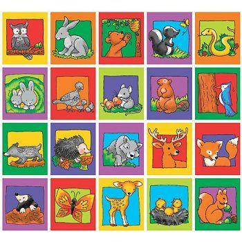 Stammetjes serie 109 - getekende lieve bosdieren