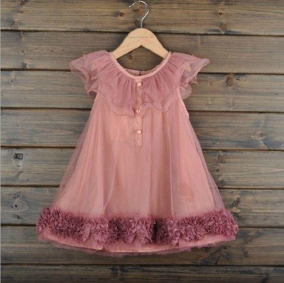 Gammelrosa kjole med tyl