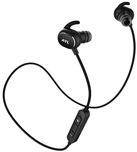 Bluetooth Headphones Lightweight AX8 V4.1 Wireless Sport Stereo In-Ear Noise Cancelling Sweatproof Headset with APT-X/Mic for iPhone 7 Samsung Galaxy S7 and Android Phones