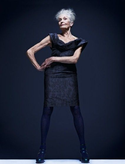 the oldest model -83 years old -  Dafny Self