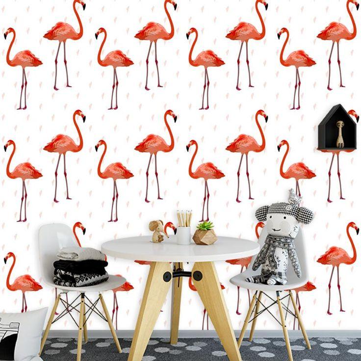Fotobehang Flamingo patroon 3   Een leuk vrolijk behang in jouw kamer? Het fotobehang Flamingo patroon 3 past zeker bij de sfeer die je zoekt. Het fotobehang is op maat en in verschillende typen behang verkrijgbaar. Zelfs zelfklevend! #fotobehang #behang #behangen #interieur #styling #diy #vliesbehang #zelfklevend #flamingo #flamingos #patroon #illustratie #patronen #oranje #dier #dieren