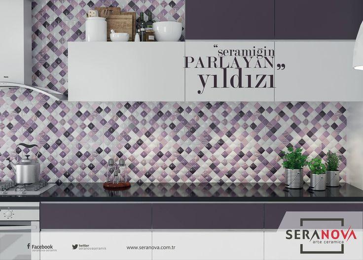 Pastel renklerin harmanlandığı, eski dostlukları hissedeceğiniz, tasarımı kalbinize dokunacak Sitare ile mutfaklarınızı renklendirin. #seranova #seramik #tasarım #dekorasyon #mutfak #kıtchen
