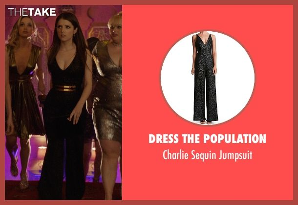 1ad62372c3d8 Dress the Population Charlie Sequin Jumpsuit as seen on Beca in Pitch  Perfect 3