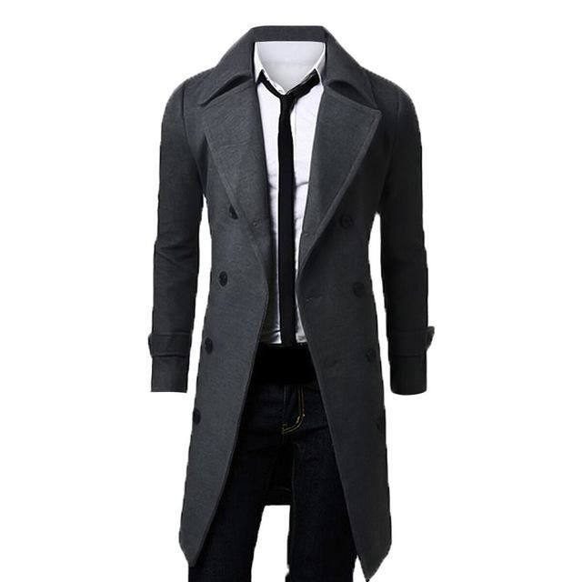 Modern parka mens jacket trench coat slim fit winter professional button up #Undisclosed #Parka