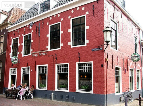 Oranje Bierhuis in historic center of Leeuwarden, Friesland, The Netherlands.