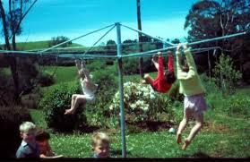 Meanwhile in Australia, kids are swinging on the Hills Hoist